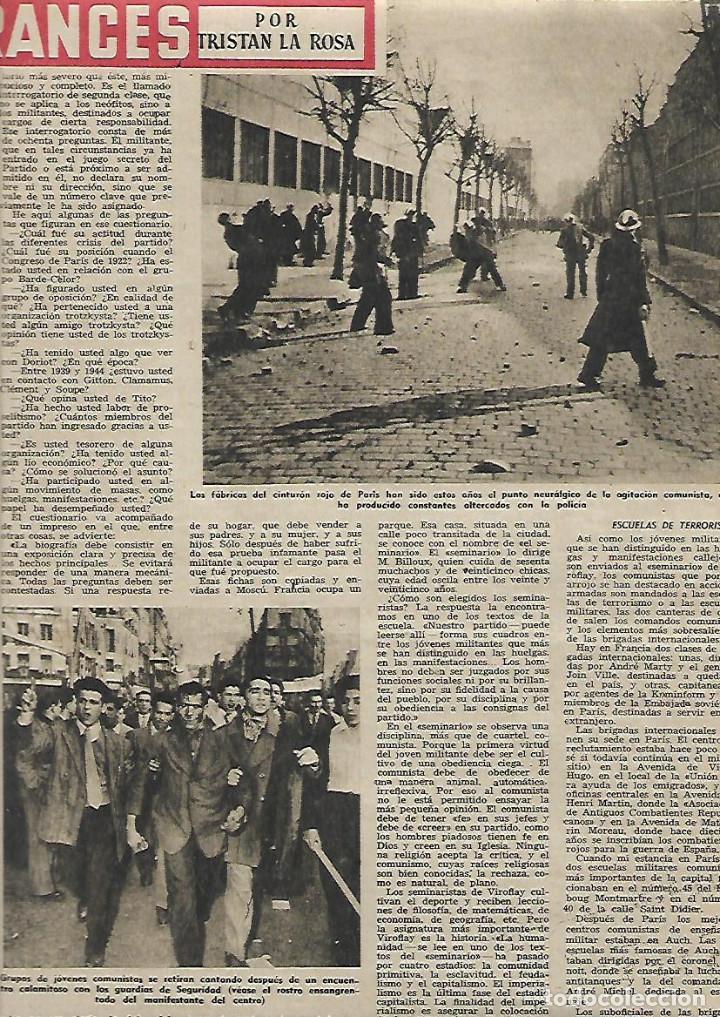 Coleccionismo de Revista Destino: AÑO 1952 DANZAS IBIZA EN GALES HOTEL ARYCASA BARCELONA PARTIDO COMUNISTA FRANCES HOLIDAY ON ICE - Foto 3 - 150300718