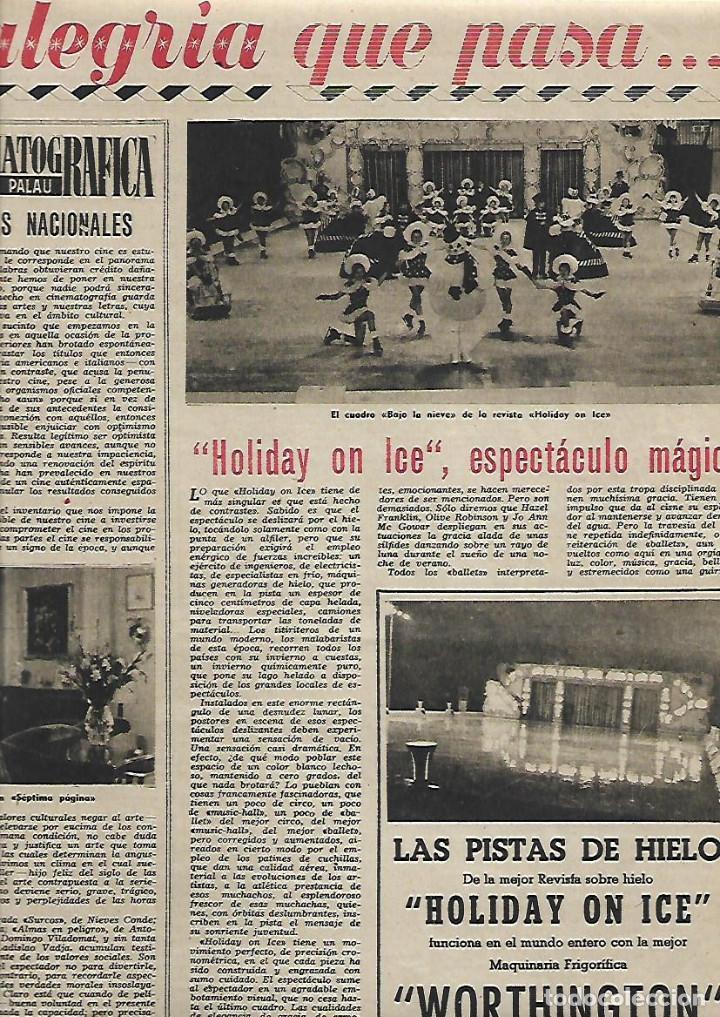 Coleccionismo de Revista Destino: AÑO 1952 DANZAS IBIZA EN GALES HOTEL ARYCASA BARCELONA PARTIDO COMUNISTA FRANCES HOLIDAY ON ICE - Foto 4 - 150300718