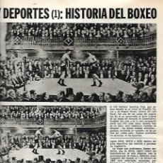 Coleccionismo de Revista Destino: AÑO 1971 DEPORTES HISTORIA DEL BOXEO FRAZIER ALI DEMPSEY CASSIUS CLAY GAZTAÑAGA URTAIN KAMALOFF. Lote 150523050