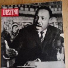 Coleccionismo de Revista Destino: REVISTA DESTINO Nº 1593 - ABRIL 1968 - SUMARIO EN FOTO. Lote 154295346