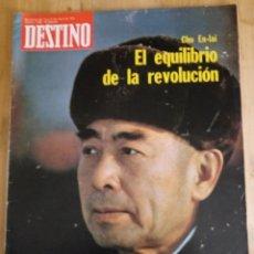 Coleccionismo de Revista Destino: REVISTA DESTINO Nº 1998 - ENERO 1976 - SUMARIO EN FOTO. Lote 154301530
