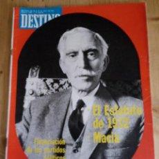 Coleccionismo de Revista Destino: REVISTA DESTINO Nº 1999 - ENERO 1976 - SUMARIO EN FOTO. Lote 154301590