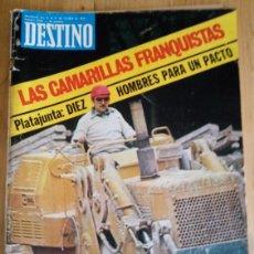 Coleccionismo de Revista Destino: REVISTA DESTINO Nº 2038 - OCTUBRE 1976 - SUMARIO EN FOTO. Lote 154301666