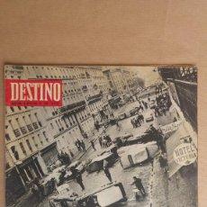 Coleccionismo de Revista Destino: DESTINO. COLERA EN PARIS, VIETNAM, BALTASAR PORCEL, TEILHARD Y SU PASCUA, EROSTRATISMO. Lote 155271010
