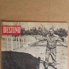 Coleccionismo de Revista Destino: DESTINO.CAIDA DE LYNDON B. JOHNSON, EUROVISION, FUTURO MR. WILSON, SANTUARIO LA GLEVA. Lote 155271542