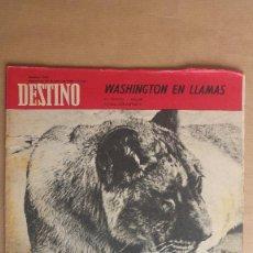 Coleccionismo de Revista Destino: DESTINO. WASHINGTON EN LLAMAS, FERIA LEIPZIG, JURAMENTO JUEGO DE PELOTA. Lote 155271898