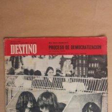 Coleccionismo de Revista Destino: DESTINO. PROCESO DEMOCRATIZACION, CONCURSO BELLEZA CANINA, MARGARITA XIRGU, FUTURO BARCELONA, . Lote 155272266