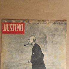 Coleccionismo de Revista Destino: DESTINO. OPPENHEIMER BOMBA ATOMICA, MITTERAND, JOAN CAPRI, GALBRAITH, AUNGUSTO PI SUNYER. Lote 155272614