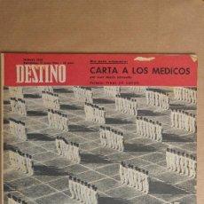 Coleccionismo de Revista Destino: DESTINO.FINAL CURSO, CARCASSONA, VERMEER, LLORENÇ VILLALONGA, RAMON DE ABADAL. Lote 155286310