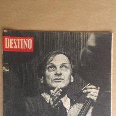 Coleccionismo de Revista Destino: DESTINO. YEHUDI MENUHIN, JOSE Mª GINODELLA POR MIGUEL DELIVES, ALFONSO SASTRE, ARTE PRE RO ASTURIANO. Lote 155287518