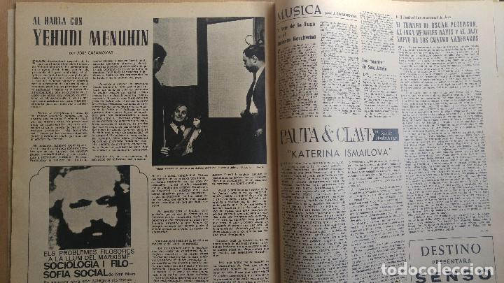 Coleccionismo de Revista Destino: DESTINO. YEHUDI MENUHIN, JOSE Mª GINODELLA POR MIGUEL DELIVES, ALFONSO SASTRE, ARTE PRE RO ASTURIANO - Foto 3 - 155287518