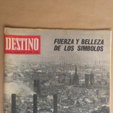 Collectionnisme de Magazine Destino: DESTINO. BARCELONA SARDANA MONUMENTO MUNTJUICH, EXPO 67, MARLENE DIETRICHT, JORDI LLIMONA. Lote 155288622