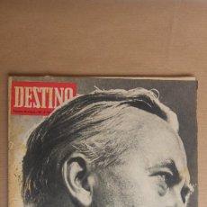 Coleccionismo de Revista Destino: DESTINO. MISTER WILSON, MIGUEL DELIBES, EVALUACION PESETA, PAYESES Y LAS MAQUINAS. Lote 155289002