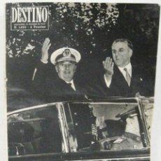 Coleccionismo de Revista Destino: DESTINO - REVISTA Nº 1053 - OCTUBRE 1957. Lote 158208362