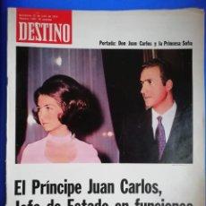 Coleccionismo de Revista Destino: DESTINO N 1921 27 DE JULIO 1974 JUAN CARLOS Y PRINCESA SOFÍA. Lote 161148442