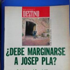 Coleccionismo de Revista Destino: REVISTA DESTINO N 1919 DE 13 DE JULIO 1974 . Lote 161152202
