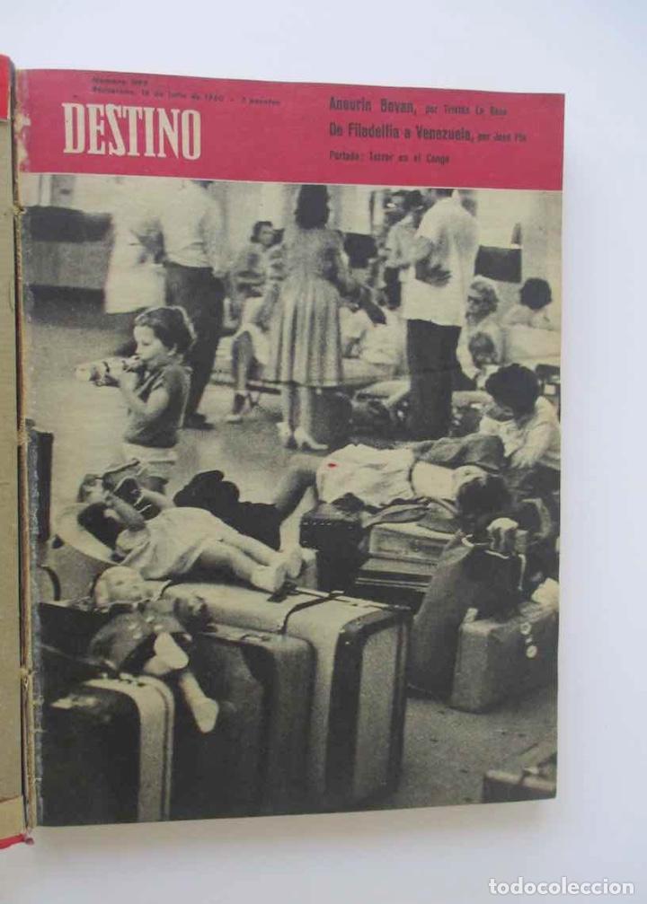 Coleccionismo de Revista Destino: NUEVE REVISTAS DESTINO - ENCUADERNADAS EN TOMO - AÑO 1960 - Foto 2 - 166088354