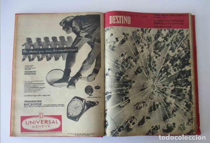 Coleccionismo de Revista Destino: NUEVE REVISTAS DESTINO - ENCUADERNADAS EN TOMO - AÑO 1960 - Foto 4 - 166088354