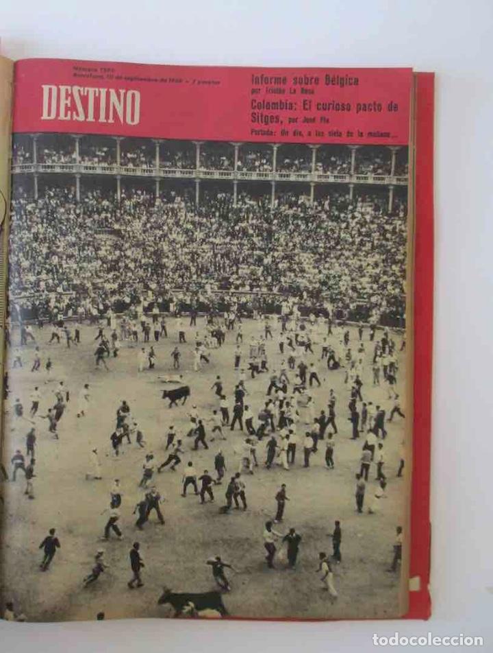 Coleccionismo de Revista Destino: NUEVE REVISTAS DESTINO - ENCUADERNADAS EN TOMO - AÑO 1960 - Foto 5 - 166088354