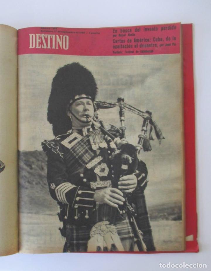 Coleccionismo de Revista Destino: NUEVE REVISTAS DESTINO - ENCUADERNADAS EN TOMO - AÑO 1960 - Foto 7 - 166088354