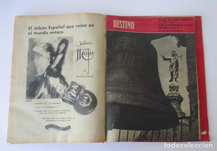 Coleccionismo de Revista Destino: NUEVE REVISTAS DESTINO - ENCUADERNADAS EN TOMO - AÑO 1960 - Foto 8 - 166088354
