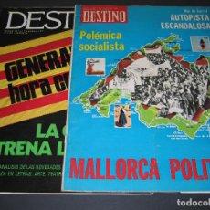 Coleccionismo de Revista Destino: 2 REVISTAS DESTINO - NÚM. 2018 / JUNIO 1976 - 2087 / OCTUBRE 1977. Lote 166929040