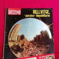 Collectionnisme de Magazine Destino: DESTINO. BELLVITGE, PARAÍSO INMOBILIARIO. JUNIO 1975.. Lote 171227998