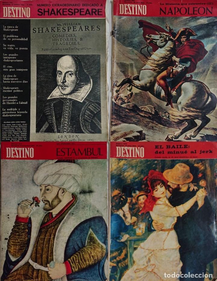 LOTE 4 NÚMEROS DESTINO VINTAGE AÑOS 60 (Coleccionismo - Revistas y Periódicos Modernos (a partir de 1.940) - Revista Destino)