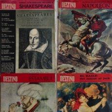 Coleccionismo de Revista Destino: LOTE 4 NÚMEROS DESTINO VINTAGE AÑOS 60. Lote 161300278