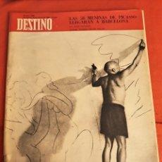Coleccionismo de Revista Destino: REVISTA DESTINO DE MARZO DE 1968 ,PICASSO. Lote 172811772
