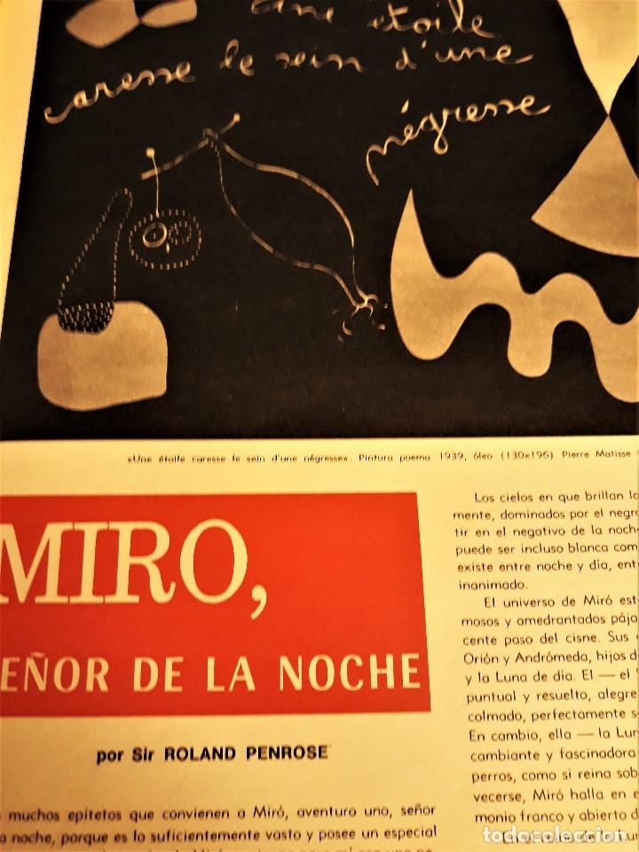 Coleccionismo de Revista Destino: REVISTA DESTINO DE NOVIEMBRE DE 1968 ,ESPECIAL AÑO MIRÓ - Foto 2 - 172812512