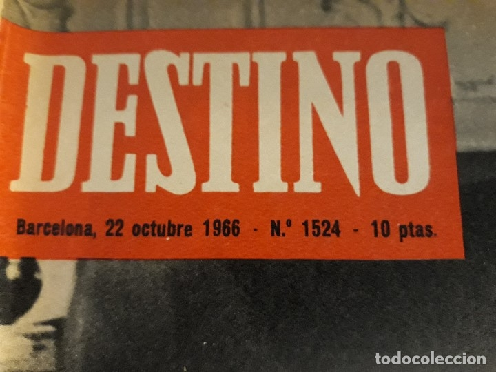 Coleccionismo de Revista Destino: REVISTA DESTINO DE OCTUBRE DE 1966 ,PICASSO - Foto 2 - 172812908
