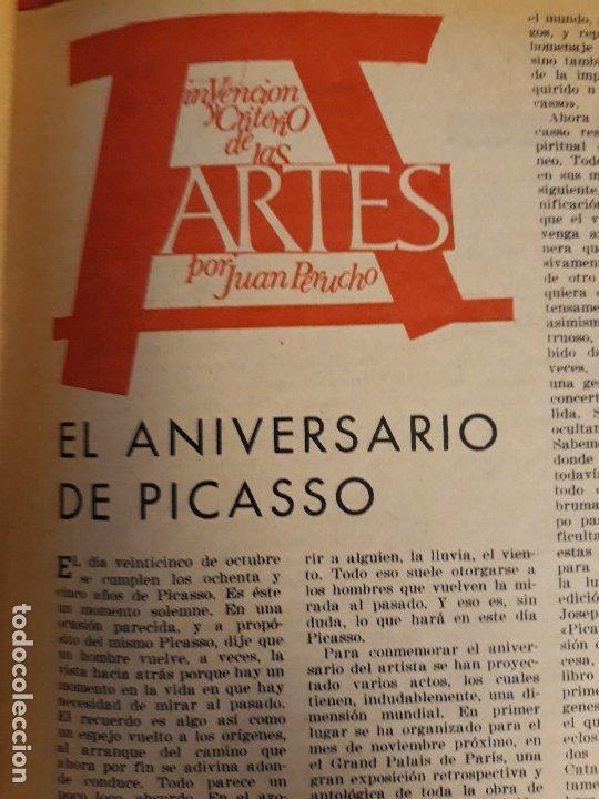 Coleccionismo de Revista Destino: REVISTA DESTINO DE OCTUBRE DE 1966 ,PICASSO - Foto 3 - 172812908