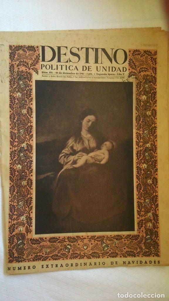 PERODICO DESTINO ( NUMERO EXTRAORDINARIO DE NAVIDAD) AÑO 1941 (Coleccionismo - Revistas y Periódicos Modernos (a partir de 1.940) - Revista Destino)