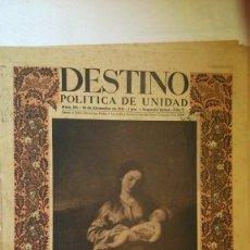 Collectionnisme de Magazine Destino: PERODICO DESTINO ( NUMERO EXTRAORDINARIO DE NAVIDAD) AÑO 1941. Lote 175528582