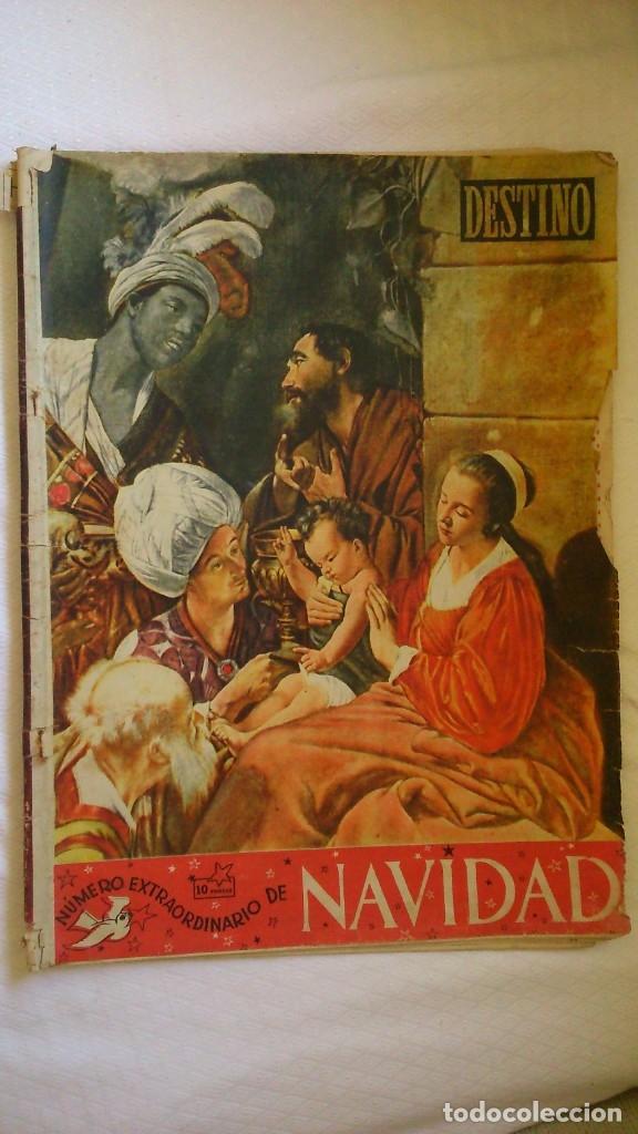 PERIODICO DESTINO AÑOS 1940 ( NUMERO NAVIDAD) (Coleccionismo - Revistas y Periódicos Modernos (a partir de 1.940) - Revista Destino)
