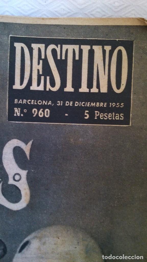Coleccionismo de Revista Destino: periodico destino año 1956 - Foto 2 - 175531039