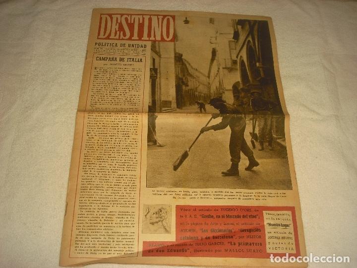 DESTINO N. 331 . 20 DE NOVIEMBRE DE 1943 . EN PORTADA LA GUERRA EN ITALIA. (Coleccionismo - Revistas y Periódicos Modernos (a partir de 1.940) - Revista Destino)