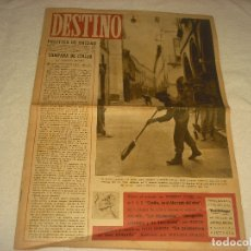 Coleccionismo de Revista Destino: DESTINO N. 331 . 20 DE NOVIEMBRE DE 1943 . EN PORTADA LA GUERRA EN ITALIA.. Lote 177374668