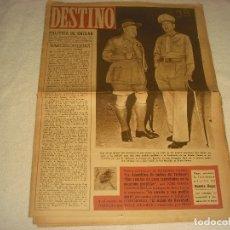 Coleccionismo de Revista Destino: DESTINO N. 335 . 18 DE DICIEMBRE DE 1943. EN PORTADA EL GENERAL AMERICANO MAC ARTHUR..... Lote 177375034
