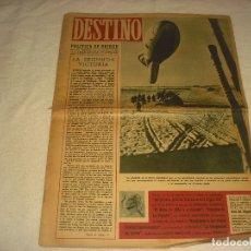Coleccionismo de Revista Destino: DESTINO N. 298. ABRIL 1943. EN PORTADA GLOBO ALEMAN CAUTIVO EN RUSIA.. Lote 177376857