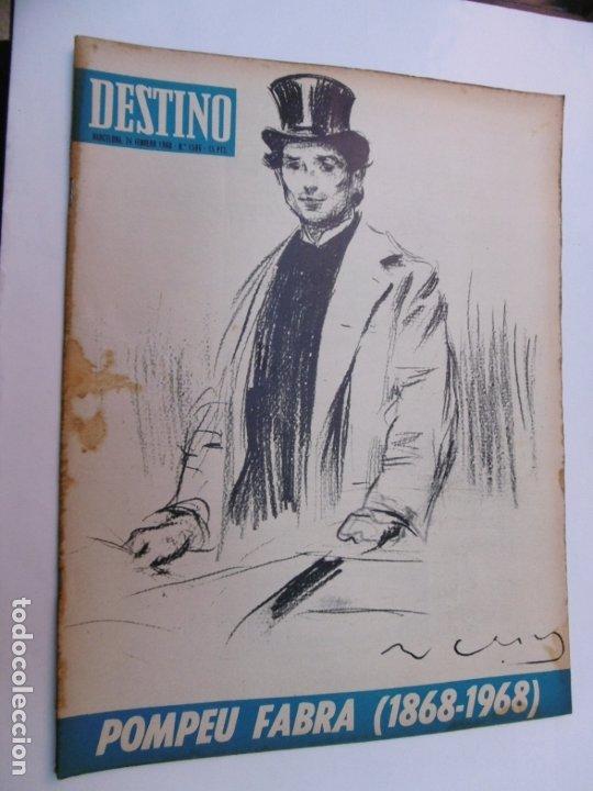 Coleccionismo de Revista Destino: 48 REVISTA DESTINO - NUMEROS 1583 AL 1630 - AÑO 1968 - Nº 1583 PRIMERO DESPUES DE LA CLAUSURA - Foto 2 - 178226256