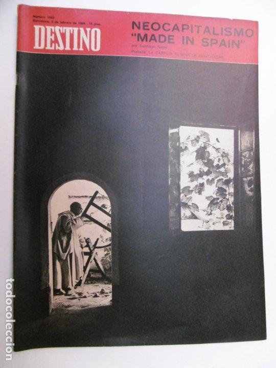 Coleccionismo de Revista Destino: 48 REVISTA DESTINO - NUMEROS 1583 AL 1630 - AÑO 1968 - Nº 1583 PRIMERO DESPUES DE LA CLAUSURA - Foto 4 - 178226256