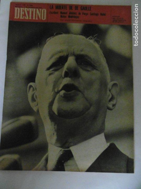 Coleccionismo de Revista Destino: REVISTA DESTINO - 49 REVISTAS - AÑO 1970 - FALTN LOS Nº 1711 Y 1718. - Foto 5 - 178287043
