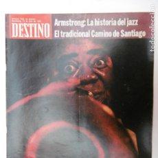 Collectionnisme de Magazine Destino: REVISTA DESTINO - Nº 1763 - 1971 - ARMSTRONG LAHISTORIA DEL JAZZ - EL TRADICIONAL CAMINO DE SANTIAGO. Lote 178294806