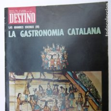 Coleccionismo de Revista Destino: REVISTA DESTINO - Nº 175 - 1971 - LA GASTRONOMIA CATALANA. Lote 178295446