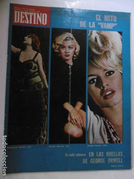 REVISTA DESTINO - 36 REVISTAS DIFERENTES DEL AÑO 1972 (Coleccionismo - Revistas y Periódicos Modernos (a partir de 1.940) - Revista Destino)