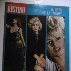 Coleccionismo de Revista Destino: REVISTA DESTINO - 36 REVISTAS DIFERENTES DEL AÑO 1972. Lote 178331147