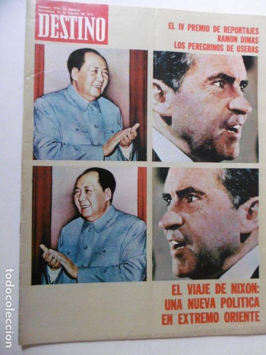 Coleccionismo de Revista Destino: REVISTA DESTINO - 36 REVISTAS DIFERENTES DEL AÑO 1972 - Foto 4 - 178331147