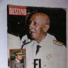 Coleccionismo de Revista Destino: REVISTA DESTINO - Nº 1987 - 1975 - EL CAMBIO. Lote 178649088